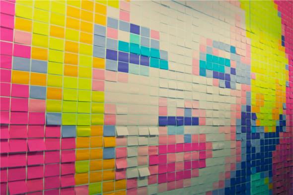 Post-it-notes-marilyn-monroe-mural1